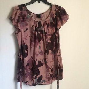 Ann Taylor women blouse purple (6)